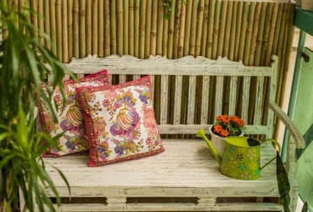 Enhance beauty of your garden with a happy bench